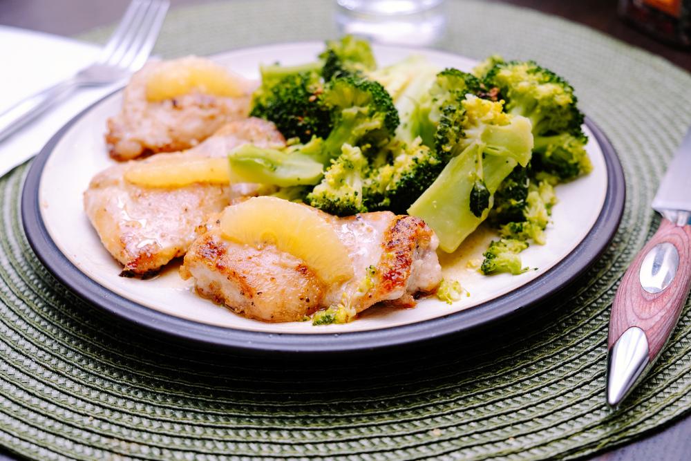 Broccoli Lemon Chicken with Cashews