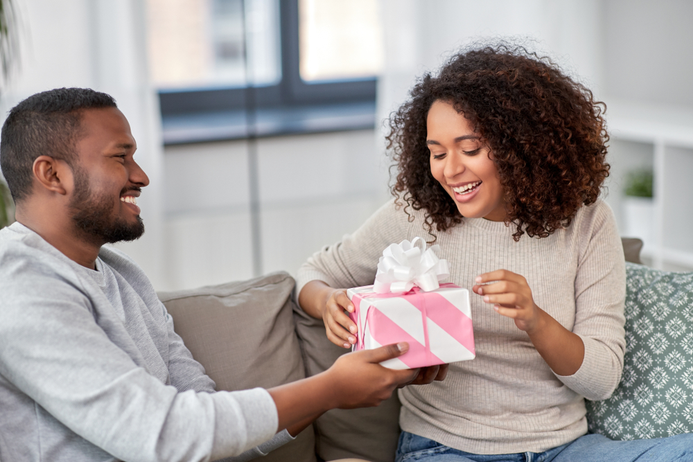 He buys you an expensive gift