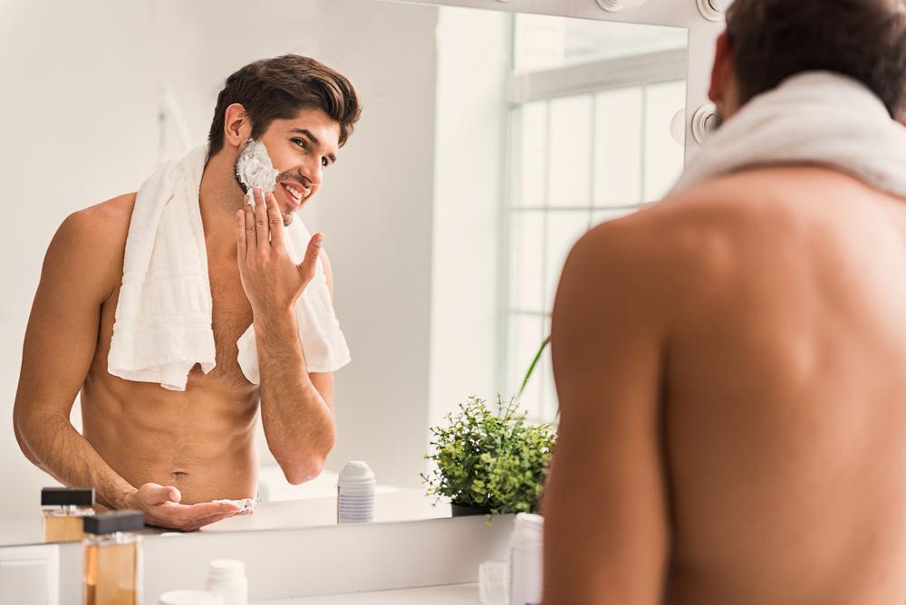 beard stubble in the sink